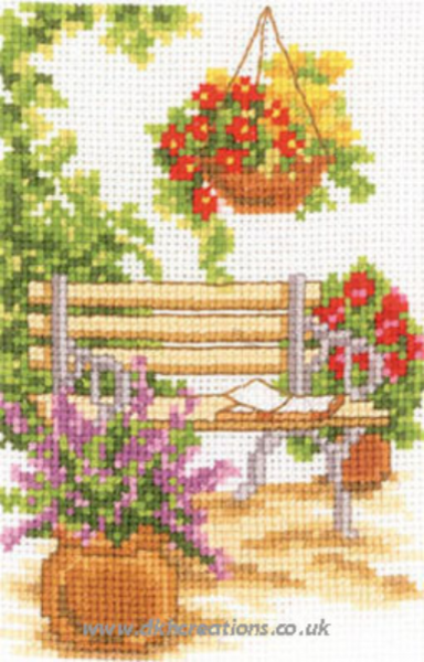 At The Garden Bench Cross Stitch Kit